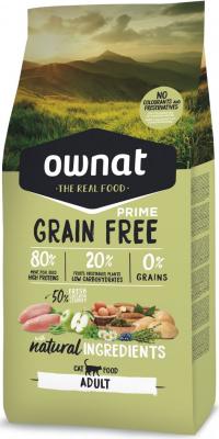OWNAT PRIME Grain Free Adult Cat Sans Céréales au Poulet & Dinde pour Chat Adulte