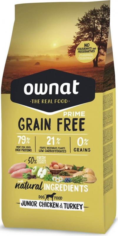 OWNAT PRIME Grain Free Junior sans céréales au poulet & dinde pour chiot