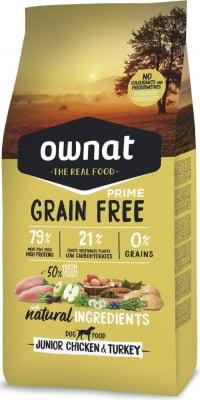 OWNAT PRIME Grain Free Junior Sin cereales con Pollo y Pavo para Cachorro