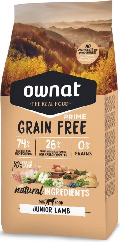 OWNAT PRIME Grain Free Junior sans céréales à l'agneau pour chiot