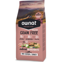 OWNAT PRIME Grain Free Adult MINI Sin cereales con Pollo y Pavo para perro adulto de raza pequeña