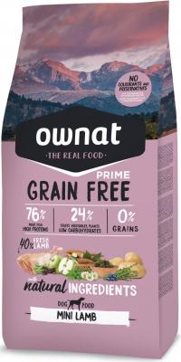OWNAT PRIME Grain Free Adult Mini sans céréales à l'agneau pour petit chien adulte