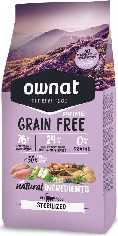 OWNAT PRIME Grain Free Sterilized sans céréales poulet & dinde pour chat adulte stérilisé