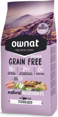OWNAT PRIME Grain Free Sterilized Sans Céréales au Poulet & Dinde pour Chat Adulte Stérilisé