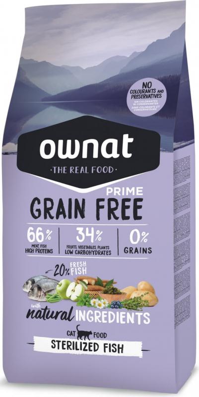 OWNAT PRIME Grain Free Sterilized sans céréales au poisson pour chat adulte stérilisé