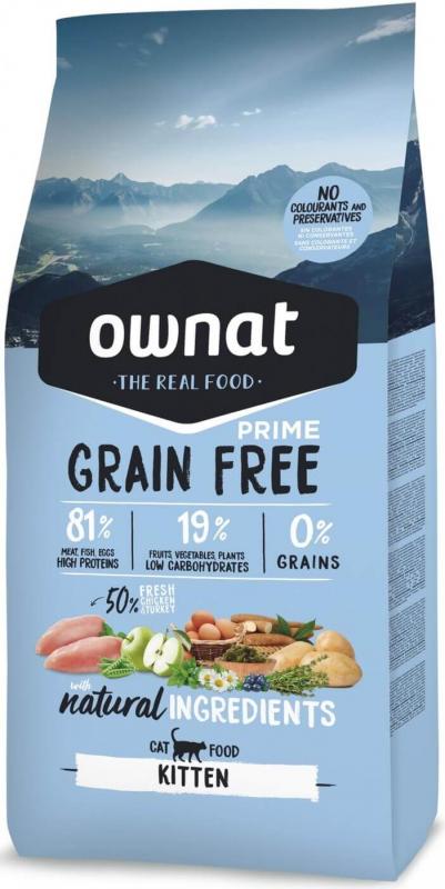 OWNAT PRIME Grain Free Kitten sans céréales poulet & dinde pour chaton