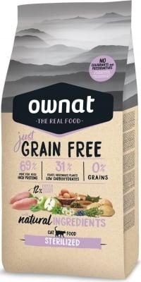 OWNAT Just Grain Free Sterilized Sans Céréales au Poulet pour chat stérilisé