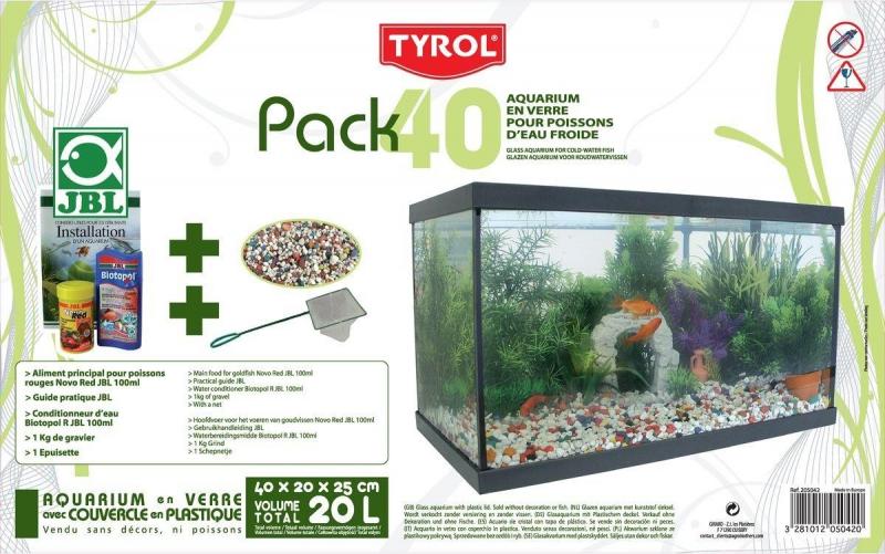 Tyrol ausgestattetes Aquarium 40, 20L