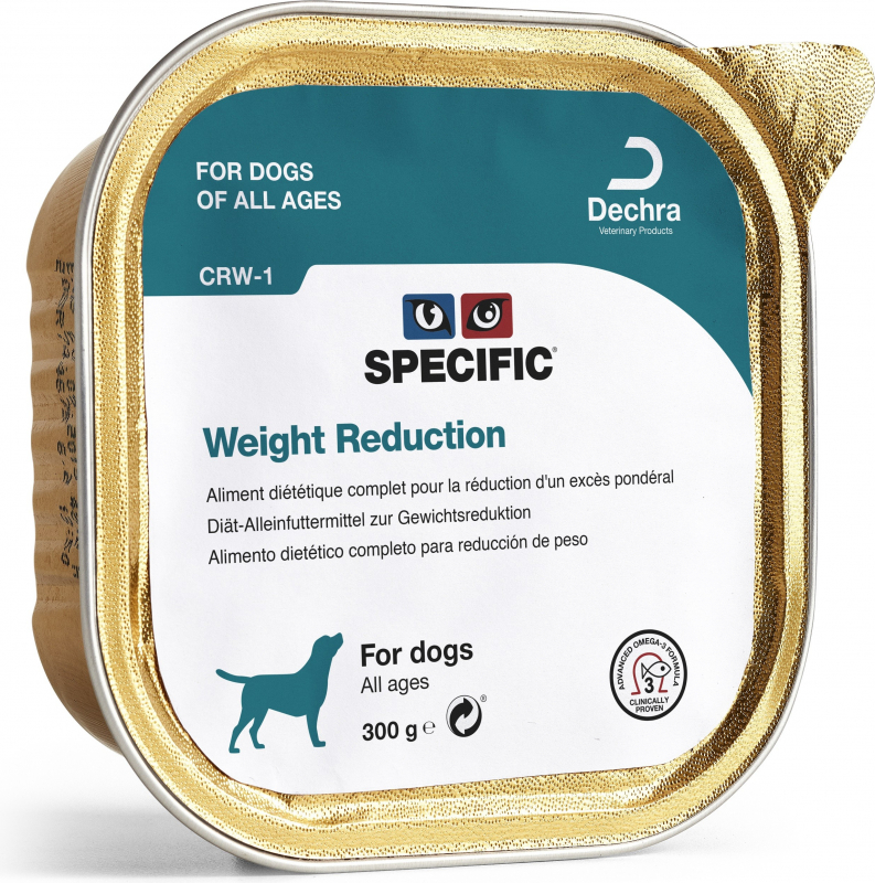 Pack de 6 Pâtées SPECIFIC CRW-1 Weight Reduction 300g pour Chien Adulte en Surpoids