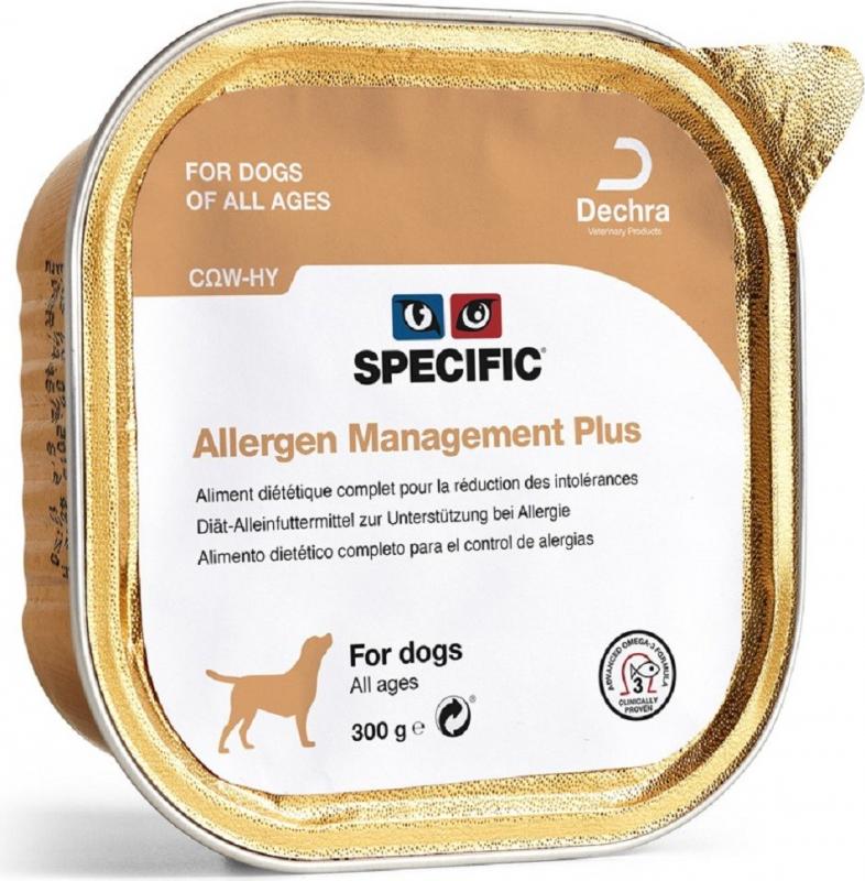 Pack de 6 Pâtées SPECIFIC COW-HY Allergy Management Plus 300g pour Chien et Chiot Sensible