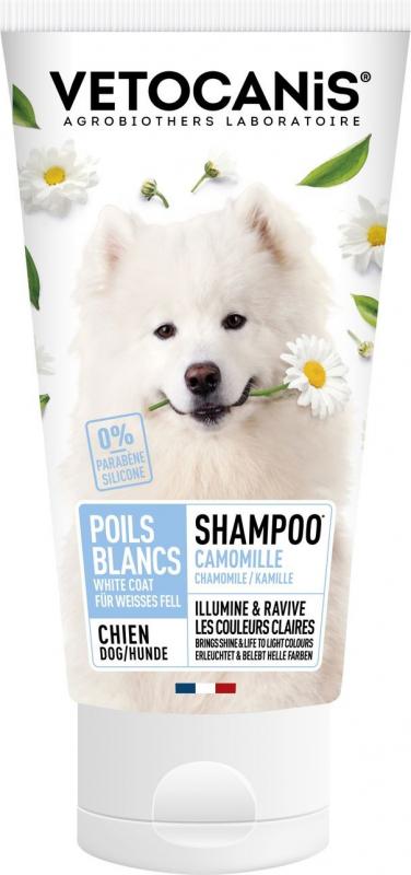Vétocanis Shampooing pour chiens aux poils clairs