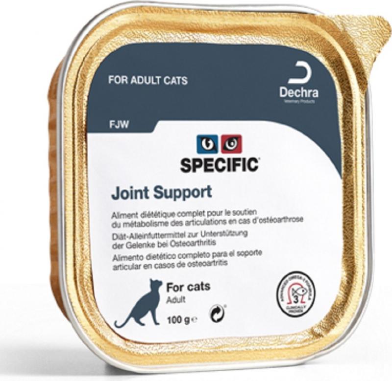 Pack de 7 Pâtées SPECIFIC FJW Joint 100g Support pour Chat Adulte