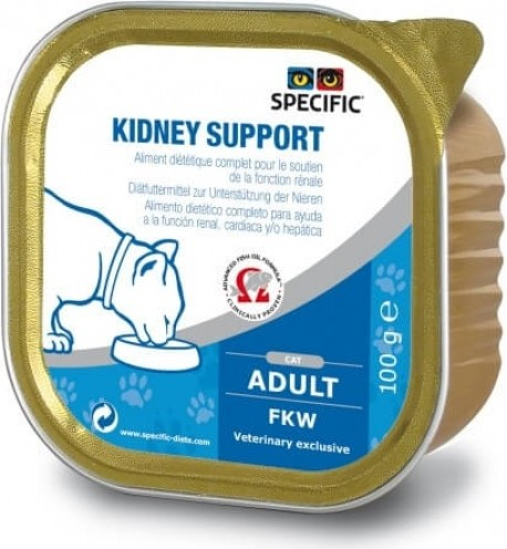 Pack de 7 Pâtées SPECIFIC FKW Kidney Support 100g pour Chat Adulte