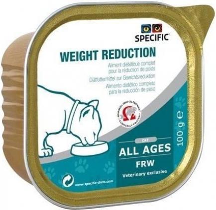 Pack de 7 Pâtées SPECIFIC FRW Weight Reduction 100g pour Chat Adulte en Surpoids