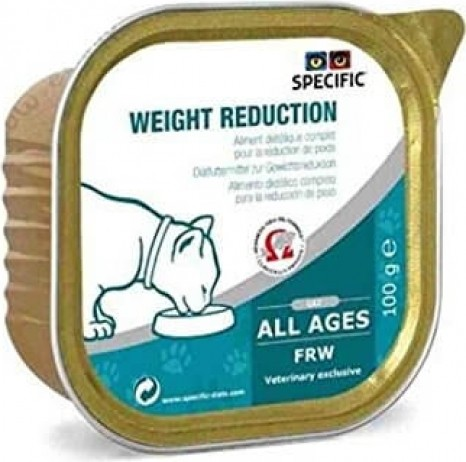 Pack de 7 Pâtées SPECIFIC FRW Weight Reduction 100g pour Chat Adulte en Surpoids