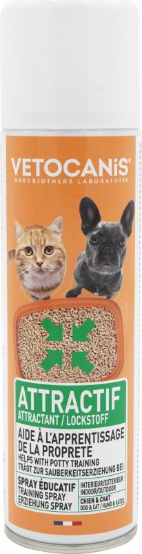 Vétocanis spray attractif pour chien et chat