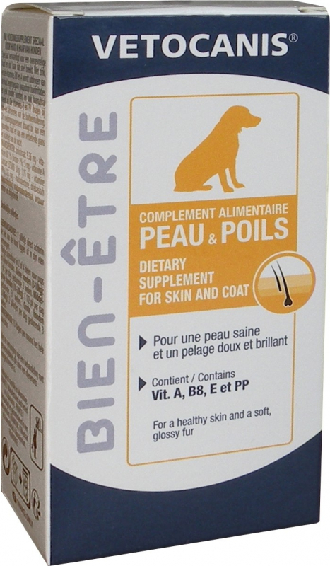 Vétocanis complément alimentaire peau et poils du chien