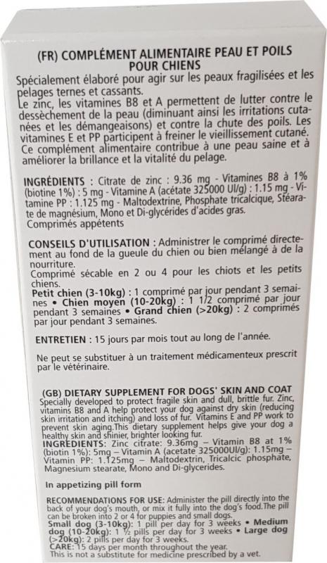Vetocanis complément alimentaire peau et poils du chien