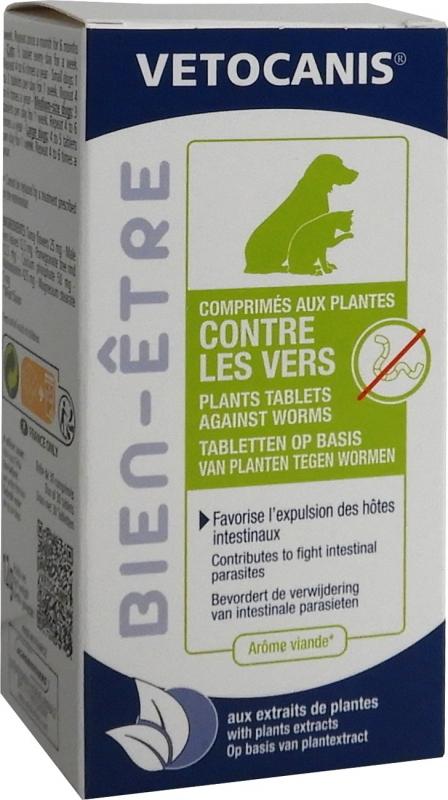 Vétocanis-Tabletten gegen Würmer für Hunde / Katzen