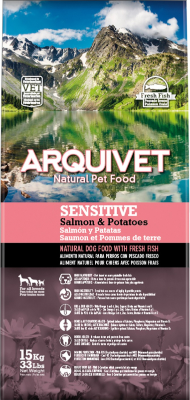 ARQUIVET Sensitive au Saumon & Pommes de Terre pour Chien Adulte Sensible