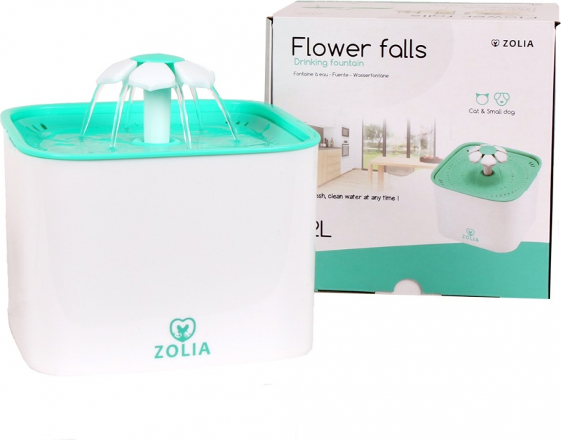 Fontaine à eau Zolia Flower Falls pour chats et petits chiens