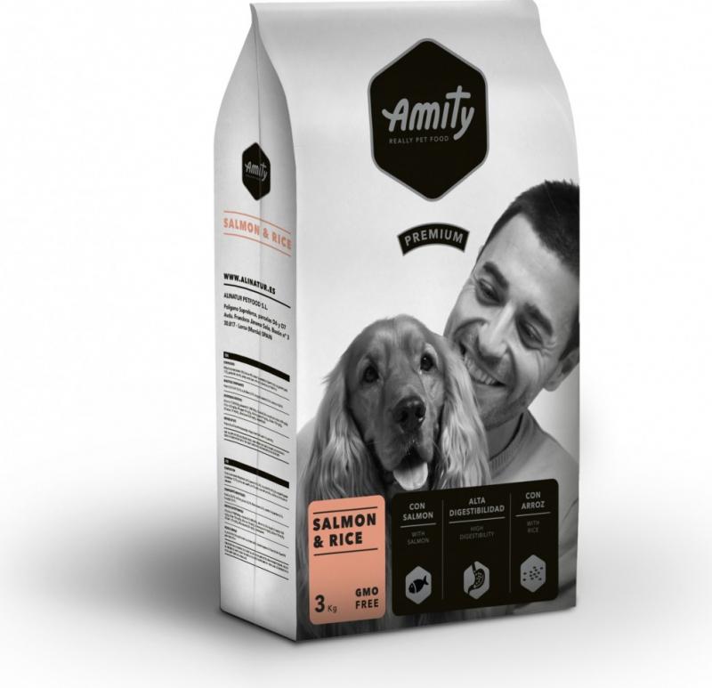 AMITY Premium Adulte Saumon & Riz pour Chien Adulte