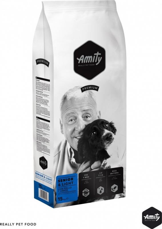 AMITY Premium Senior & Light pour Chien âgé ou en Surpoids