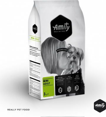 AMITY Premium Mini Adult Poulet & Agneau pour Chien Adulte de Petite Taille