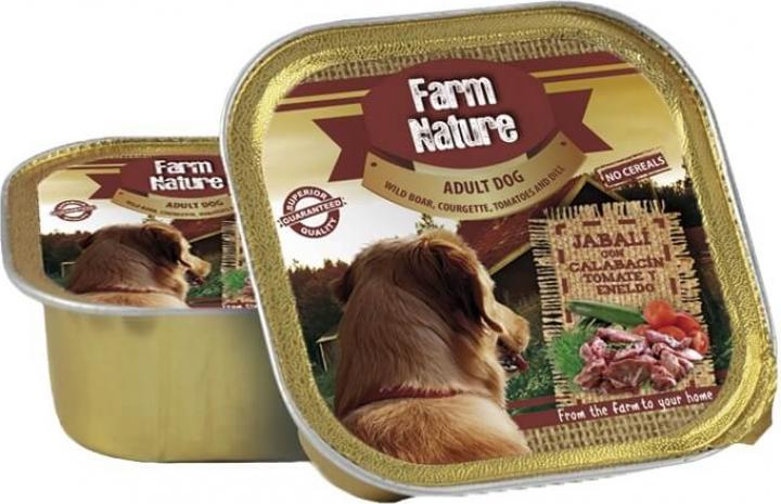 Pâtée FARM NATURE Sanglier, Légumes & Aneth Sans Céréales pour Chien Adulte - 2 formats disponibles