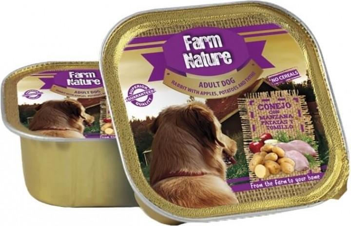 Pâtée FARM NATURE Lapin, Pomme & Thym Sans Céréales pour Chien Adulte - 2 formats disponibles