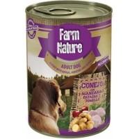 Pâtée FARM NATURE Lapin, Pomme & Thym Sans Céréales pour Chien Adulte