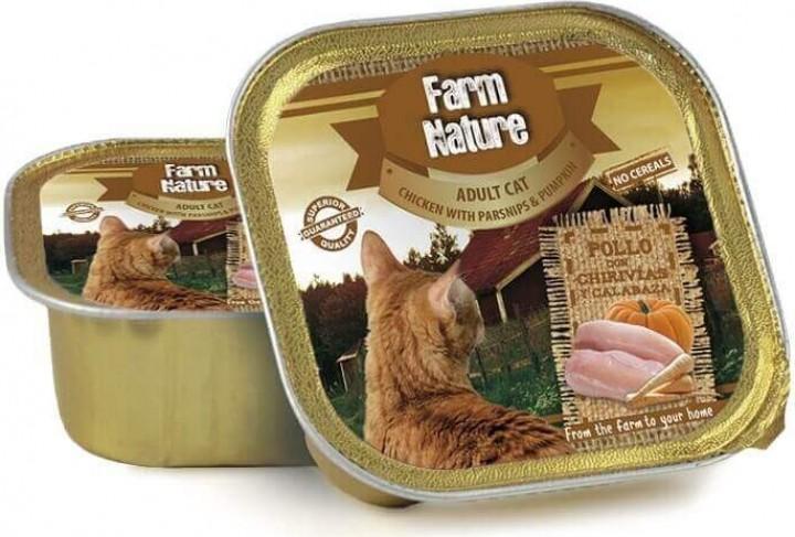 Pâtée FARM NATURE Sans Céréales 100g pour Chat Adulte - 4 saveurs au choix