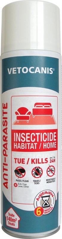 Vetocanis spray insecticide pour l'habitat : Antipuces, anti-tiques et anti-moustiques