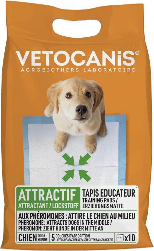 Vétocanis - Tapis absorbant x10 pour chien et chat