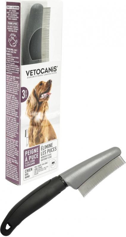 Vétocanis Peigne à puces pour chien