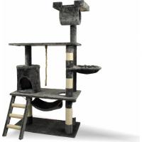 Arbre à chat - 141 cm - Zolia Alaké avec griffoir, sisal, corde jeu, hamacs, escalier