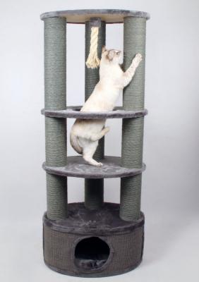 Arbre à chat Zolia SpiderCat - 150cm avec gros poteaux à griffer