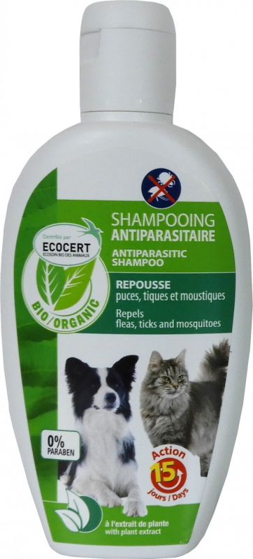 Shampooing antiparasitaire EcoSoin BIO pour chien et chat