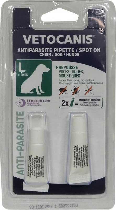 Vetocanis Pipette insectifuge antiparasitaire pour chien