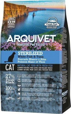 ARQUIVET Sterilized au Poisson Blanc & Thon pour Chat Adulte