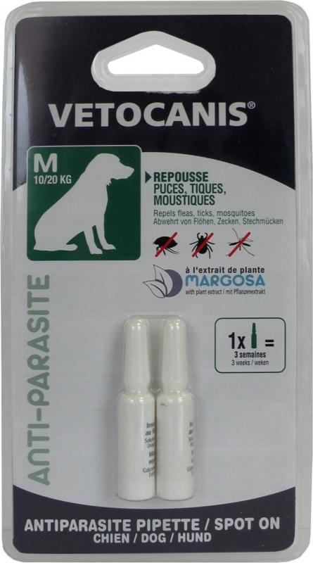 Vétocanis Pipette antiparasitaire pour chien