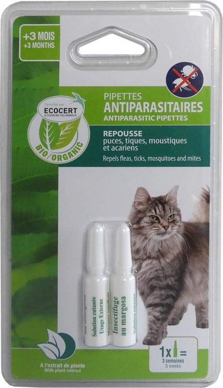 ECOSOIN BIO - Bio Anti-Parasitenpipetten für Katzen