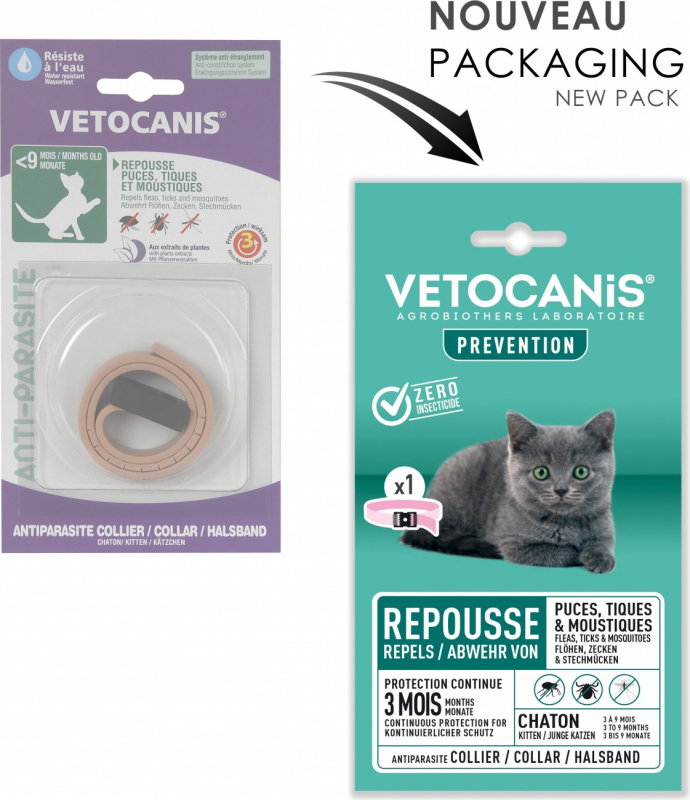 Vetocanis collier antiparasitaire chaton