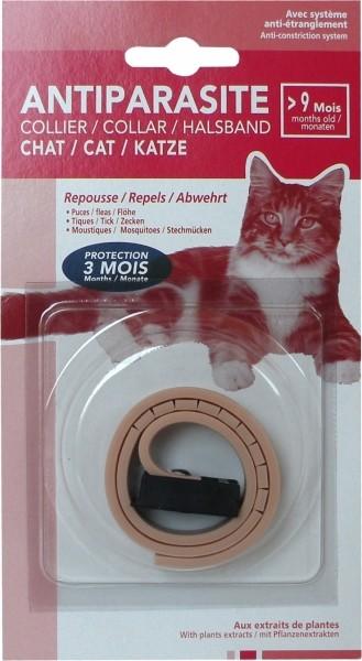Collar antiparasitario para gato