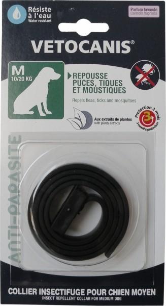 Vétocanis collier antiparasitaire pour chien Noir