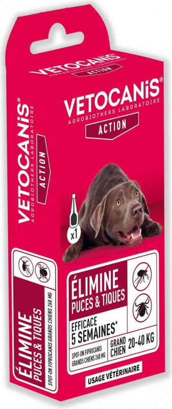 Vétocanis SPOT ON Fipronil pour chien