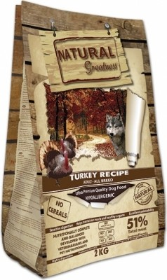 NATURAL GREATNESS Turkey Recipe Sin Cereales para Perro Adulto