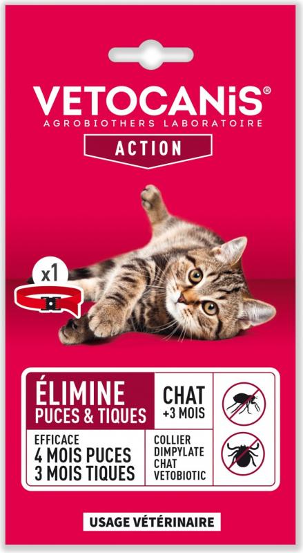 Vétobiotic collier Dimpylate pour chat