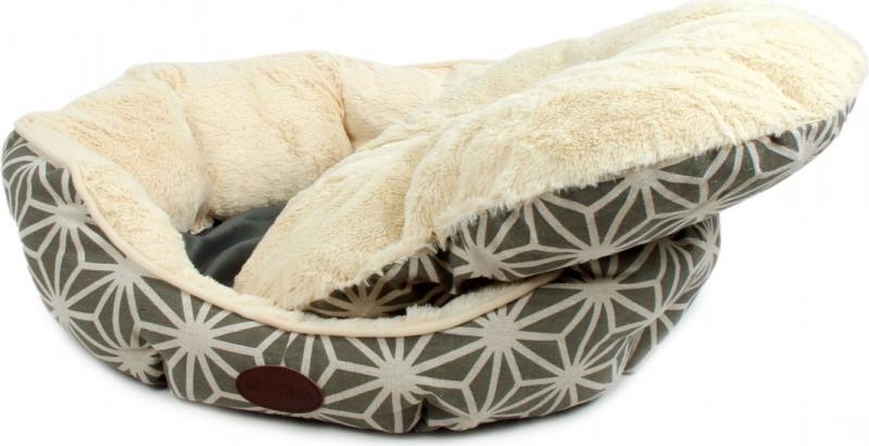 Zolia Muse Hundekorb, creme und grau, 60cm