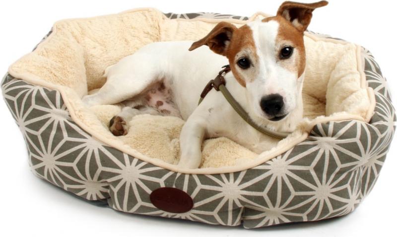 Panier pour chien Zolia Muse, crème et gris, 60cm 45d8f6defb8